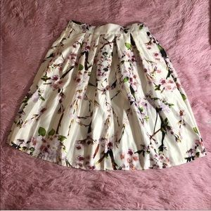 Gorgeous New Choi's Floral Skirt NWT Spring Summer